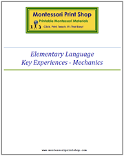 Elementary Key Experiences: Grammar Mechanics