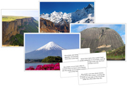 Mountain Pictures and Fast Facts - Printable Montessori Geography Materials by Montessori Print Shop.