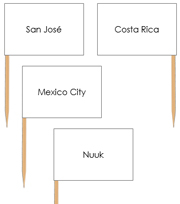 North America Capital Cities - pin flags - Printable Montessori geography materials by Montessori Print Shop.