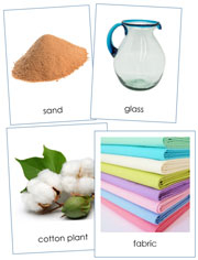 Natural Resources and Their Products - Printable Montessori science materials by Montessori Print Shop.