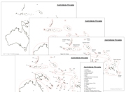 Oceania Control Maps and Masters - Printable Montessori materials by Montessori Print Shop.