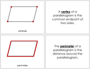 The Study of a Parallelogram Book - Printable Montessori Geometry Materials by Montessori Print Shop.