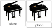 Piano Nomenclature Cards - Printable Montessori nomenclature cards by Montessori Print Shop.