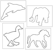 Pin Poke Animals - Printable Montessori materials by Montessori Print Shop.