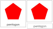 Polygon Cards - Complex Concepts - Printable Montessori math materials by Montessori Print Shop.