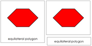The Study of a Polygon 3-Part Cards - Printable Montessori Geometry Materials by Montessori Print Shop.
