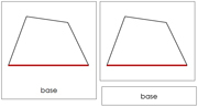 The Study of a Quadrilateral 3-Part Cards - Printable Montessori Geometry Materials by Montessori Print Shop.