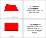 Quadrilaterals Book - Printable Montessori math materials by Montessori Print Shop.
