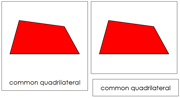 Quadrilaterals 3-Part Cards - Printable Montessori math materials by Montessori Print Shop.