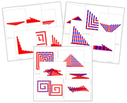 Red Rods & Number Rods Pattern Cards Bundle - Printable Montessori Sensorial Cards