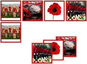 Remembrance Day Matching Cards - Printable Montessori preschool materials by Montessori Print Shop.