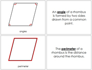 The Study of a Rhombus Book - Printable Montessori Geometry Materials by Montessori Print Shop.