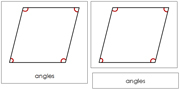 The Study of a Rhombus 3-Part Cards - Printable Montessori Geometry Materials by Montessori Print Shop.