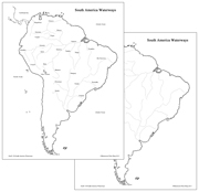 South America Waterways Map - Printable Montessori geography materials by Montessori Print Shop.