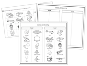 Sense of Hearing Sorting Blackline Masters - Printable Montessori Science Cards by Montessori Print Shop.
