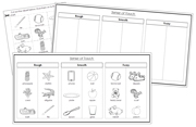 Sense of Touch Sorting (Set 3) Blackline Masters - Printable Montessori Science Cards by Montessori Print Shop.