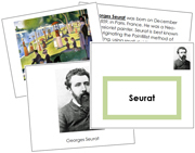 Georges Seurat Art Book - Printable Montessori materials by Montessori Print Shop.