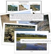 Types of Shorelines - Printable Montessori Science Materials by Montessori Print Shop.