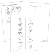 Sink and Float Blackline Masters - Printable Montessori science materials by Montessori Print Shop.