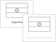 South American Flags: Outlines - Printable Montessori materials by Montessori Print Shop.