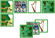 St. Patrick's Day Matching Cards - Printable Montessori preschool materials by Montessori Print Shop.