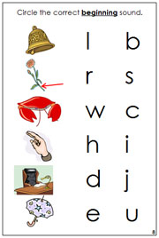 Phonetic Initial Sound Choice Cards - Printable Montessori language materials by Montessori Print Shop.
