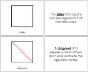 The Study of a Square Book - Printable Montessori Geometry Materials by Montessori Print Shop.
