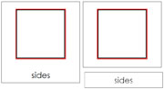 The Study of a Square 3-Part Cards - Printable Montessori Geometry Materials by Montessori Print Shop.