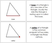 The Study of a Triangle Book - Printable Montessori Geometry Materials by Montessori Print Shop.