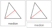 The Study of a Triangle 3-Part Cards - Printable Montessori Geometry Materials by Montessori Print Shop.
