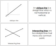 The Study of Lines Book - Printable Montessori Math Materials by Montessori Print Shop.