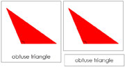Triangle 3-Part Cards, Complex Concepts (red) - Printable Montessori Geometry Materials by Montessori Print Shop.