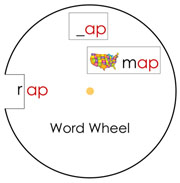 Word Wheels Set 1 - Printable Montessori materials by Montessori Print Shop.