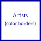 Visual Artists: Famous Artist Cards with color borders by Montessori Print Shop