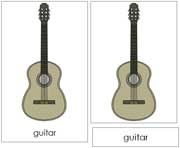 Guitar Nomenclature Cards - Printable Montessori nomenclature cards by Montessori Print Shop.
