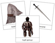 Medieval Knight Picture Cards - Printable Montessori materials by Montessori Print Shop.