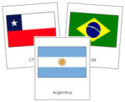 South American Flag Cards - Printable Montessori geography materials by Montessori Print Shop.