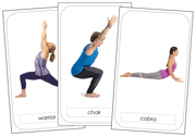 Yoga Poses - Printable Montessori Peace and Culture Materials for home and school.